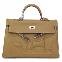 Сумка Hermes Kelly 35 (16-225) цвет Кемел