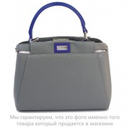 Фото - Клатч Fendi mini Peekaboo (15-111) цвет Серый